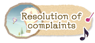 Resolution of complaints